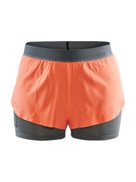 Craft Vent 2 in 1 Racing Laufshort Orange Damen