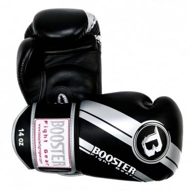Booster Pro Range BGL V3 Leder Boxhandschuhe Silver/Schwarz