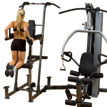 Body-Solid Fusion 600 personal trainer mit Weight assisted dip and pull up station