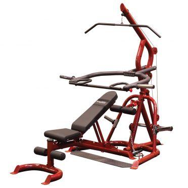Body-Solid Corner leverage gym + Hantelbank