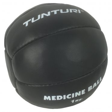 Tunturi Medizinball Kunstleder 1 kg Schwarz