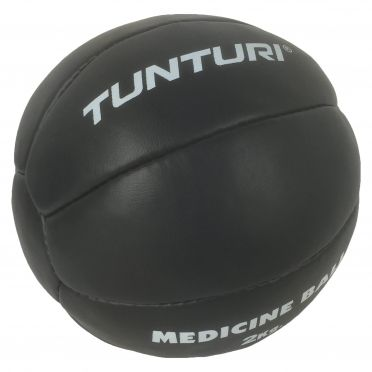 Tunturi Medizinball Kunstleder 2 kg Schwarz