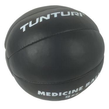 Tunturi Medizinball Kunstleder 5 kg Schwarz