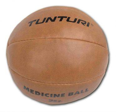 Tunturi Medizinball Kunstleder 2 kg Braun