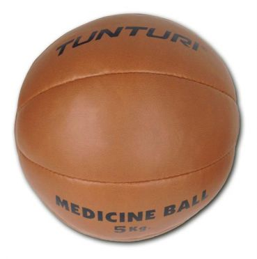 Tunturi Medizinball Kunstleder 5 kg Braun
