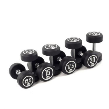 Muscle Power Dumbbellset runder Gummi 12,5 - 20 kg