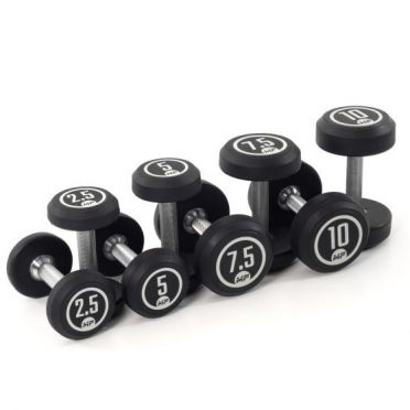 Muscle Power Dumbbellset runden Gummi 2,5 - 10 kg