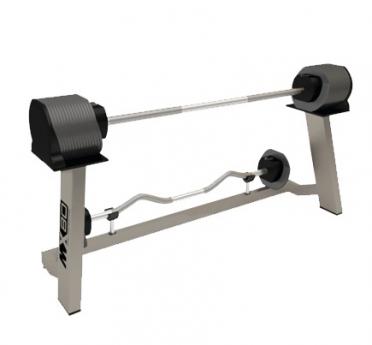 MX Select MX80 Langhantel und Curl Bar 36,4 kg einstellbar mit Ständer
