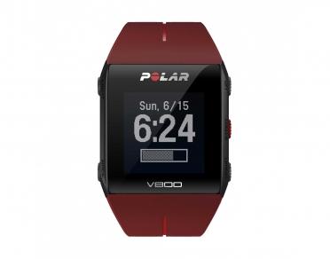 Polar V800 GPS sportuhr mit herzfrequenz-sensor Rot