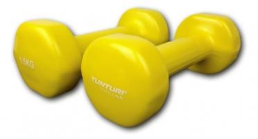 Tunturi Kurzhanteln Gusseisen mit Vinylbeschichtung Gelb 1,5 kg 14TUSFU150
