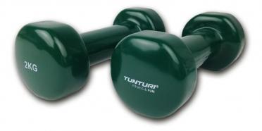 Tunturi Kurzhanteln Gusseisen mit Vinylbeschichtung Grün 2 kg 14TUSFU110