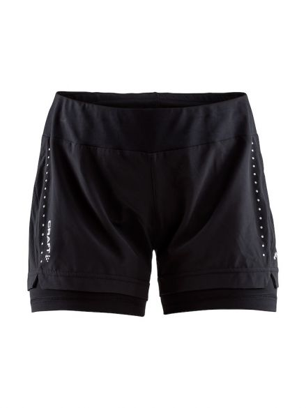 Craft Essential 2-in-1 Laufshort Schwarz Damen  1906029-999000