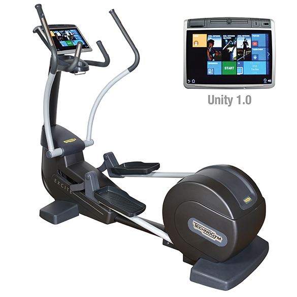 TechnoGym Crosstrainer Excite+ Synchro 700 Unity Silber gebraucht  BBTGESY700UZI