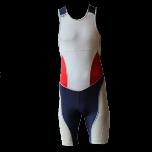 Ironman Trisuit back zip ärmellos Extreme suit Weiß/Blau/Rot Herren  IM7500-03/05/41