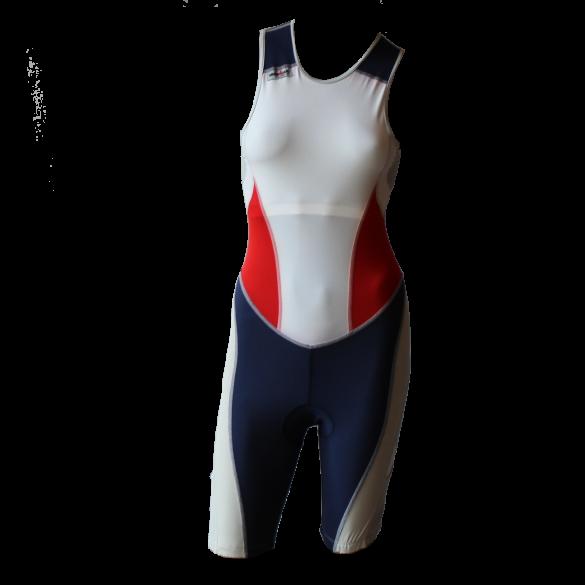 Ironman Trisuit back zip ärmellos Extreme suit Weiß/Blau/Rot Damen  IMW7517-03/05/41
