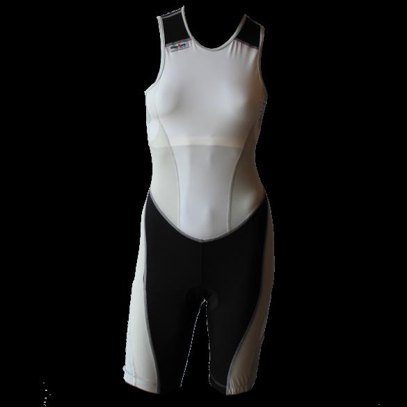 Ironman Trisuit back zip ärmellos Extreme suit Weiß/Grau Damen  IMW7517-03/10