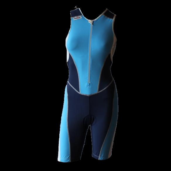 Ironman Trisuit front zip ärmellos Bodysuit Blau Damen  IMW8517-50/41