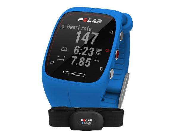 Polar M400 HRM Sportuhr miet GPS Blauw  90057189
