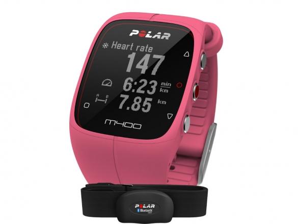 Polar M400 HRM Sportuhr miet GPS Pink  90057193