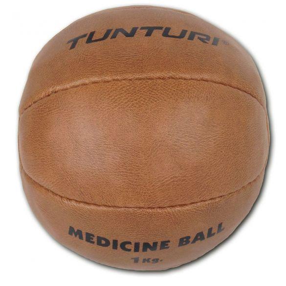 Tunturi Medizinball Kunstleder 1 kg Braun  14TUSBO097