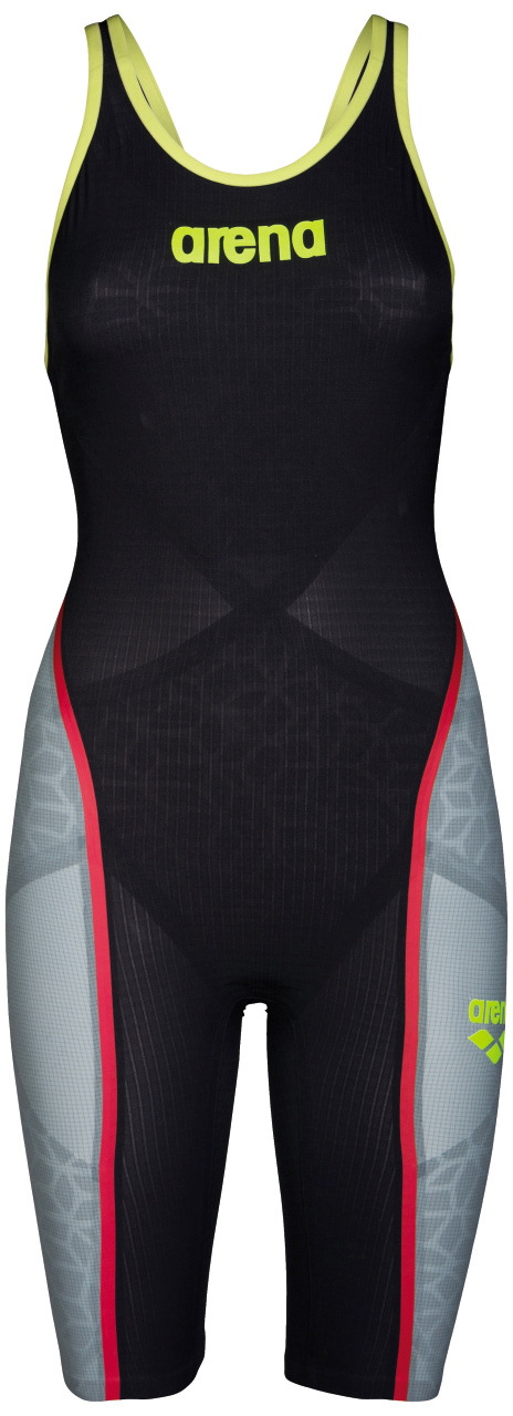 Arena Powerskin Carbon-Ultra open back Badeanzug Grau/Rot Damen  AR2A312-546