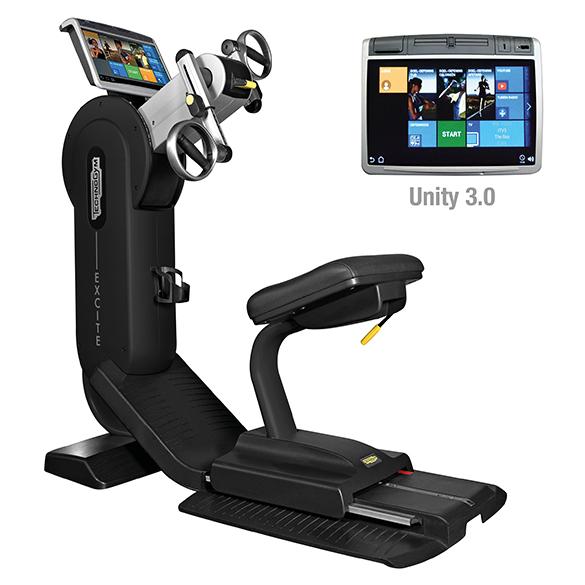 Technogym Arm Ergometer Excite+ Top 700 Unity 3.0 Schwarz gebraucht  BBTGET700U3ZW